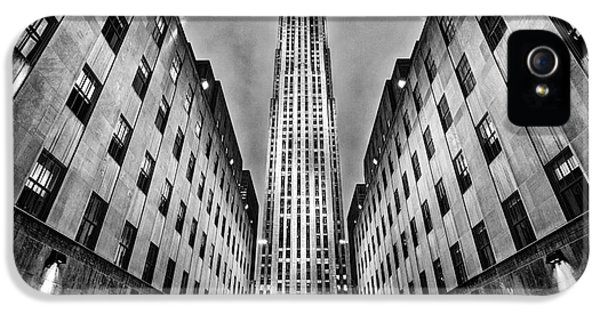 Build iPhone 5 Cases - Rockefeller Centre iPhone 5 Case by John Farnan
