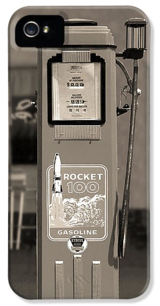 Rockets iPhone 5 Cases - Rocket 100 Gasoline - Tokheim Gas Pump 2 iPhone 5 Case by Mike McGlothlen