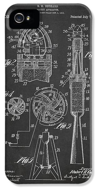 Rockets iPhone 5 Cases - Rocket Apparatus Patent iPhone 5 Case by Aged Pixel