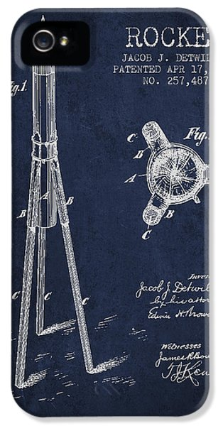 Rockets iPhone 5 Cases - Rocket Patent Drawing From 1883 iPhone 5 Case by Aged Pixel