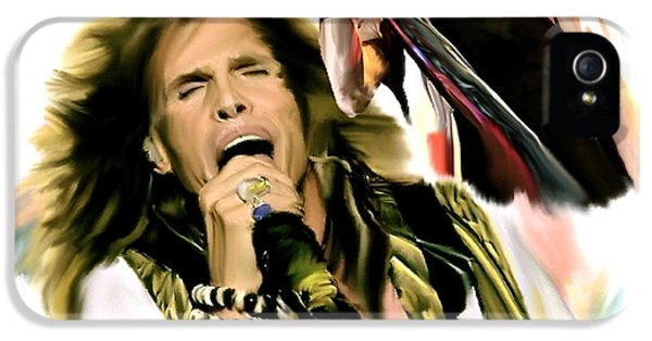 Rocks Gothic Lion II  Steven Tyler IPhone 5 / 5s Case by Iconic Images Art Gallery David Pucciarelli