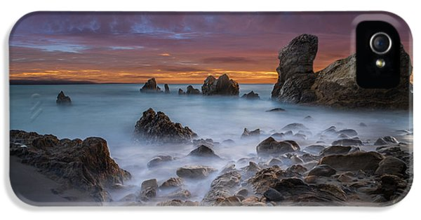 Epic iPhone 5 Cases - Rocky California Beach - Square iPhone 5 Case by Larry Marshall