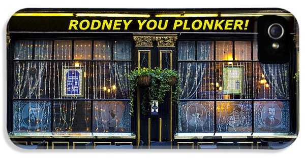 Boys Only iPhone 5 Cases - Rodney you plonker Pub iPhone 5 Case by David Pyatt