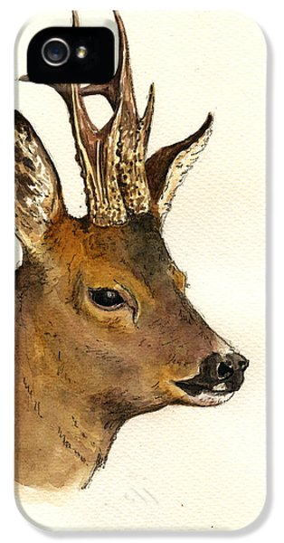Roe Deer Head Study IPhone 5 / 5s Case by Juan  Bosco