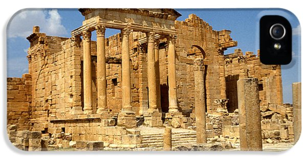 Ruins iPhone 5 Cases - Roman City Of Sbeitla, Tunisia Photo iPhone 5 Case by .