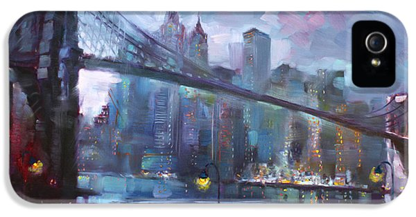Romance By East River II IPhone 5 / 5s Case by Ylli Haruni