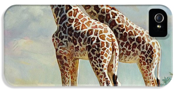 Romance In Africa - Love Among Giraffes IPhone 5 / 5s Case by Svitozar Nenyuk
