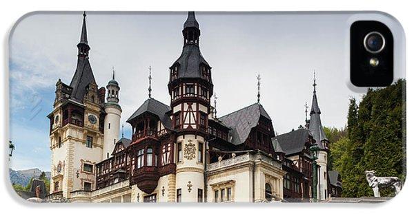 Romania, Transylvania, Sinaia, Peles IPhone 5 / 5s Case by Walter Bibikow