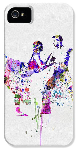 Beautiful Dancer iPhone 5 Cases - Romantic Ballet Watercolor 2 iPhone 5 Case by Naxart Studio