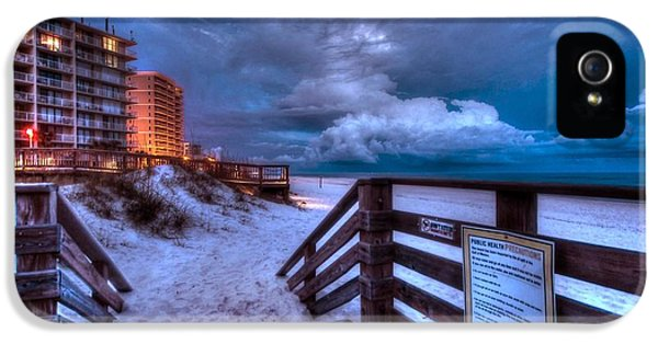 Micdesigns iPhone 5 Cases - Romar Beach Clouds iPhone 5 Case by Michael Thomas