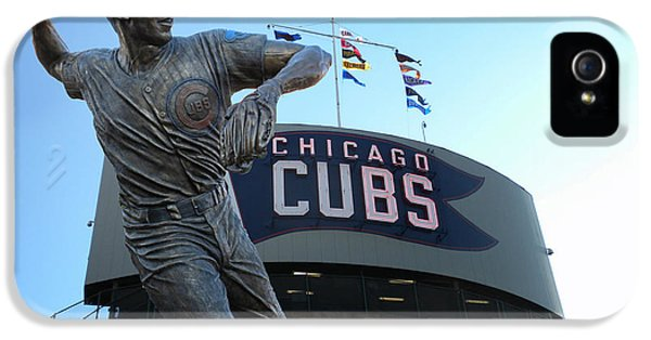 Central Division iPhone 5 Cases - Ron Santo Chicago Cubs Statue iPhone 5 Case by Thomas Woolworth