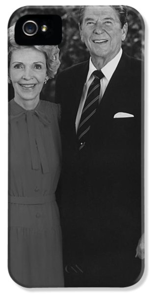 First Lady iPhone 5 Cases - Ronald And Nancy Reagan iPhone 5 Case by War Is Hell Store