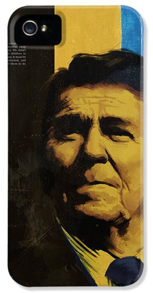 Ronald Reagan IPhone 5 / 5s Case by Corporate Art Task Force