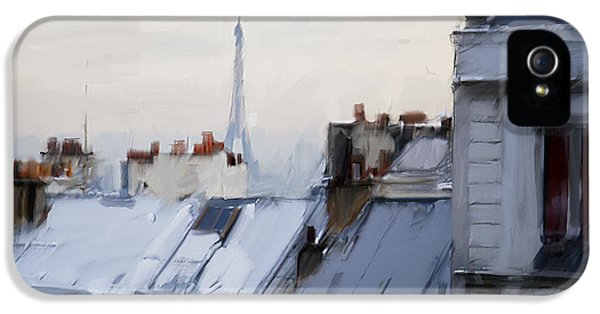 Rooftops Of Paris IPhone 5 / 5s Case by H James Hoff
