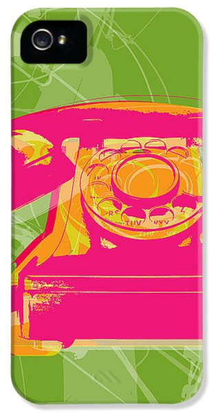 Pop iPhone 5 Cases - Rotary phone iPhone 5 Case by Jean luc Comperat