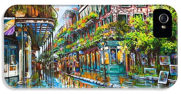 Street Scene iPhone 5 Cases - Royal at Pere Antoine Alley iPhone 5 Case by Dianne Parks