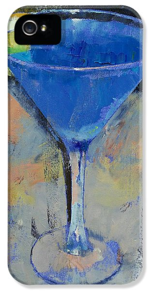 Royal Blue Martini IPhone 5 / 5s Case by Michael Creese