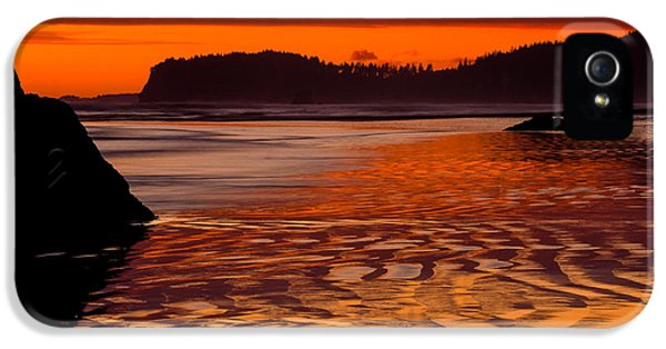 Reflective iPhone 5 Cases - Ruby Beach Afterglow iPhone 5 Case by Inge Johnsson