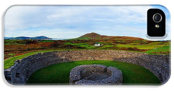 Social History iPhone 5 Cases - Ruins Of A Fort, Cahergall Stone Fort iPhone 5 Case by Panoramic Images