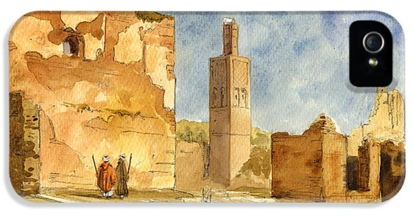 Ruins iPhone 5 Cases - Ruins of Chellah  iPhone 5 Case by Juan  Bosco