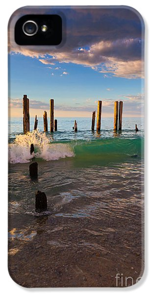 Ruins iPhone 5 Cases - Ruins of the old Port Willunga Jetty iPhone 5 Case by Bill  Robinson