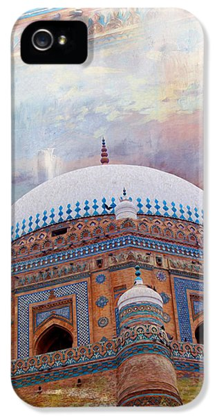 Pakistan iPhone 5 Cases - Rukh e Alam iPhone 5 Case by Catf