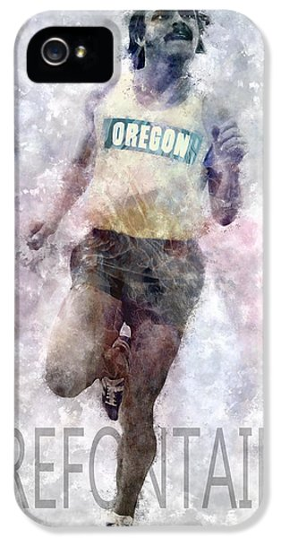 Running Legend Steve Prefontaine IPhone 5 / 5s Case by Daniel Hagerman
