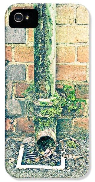 Broken iPhone 5 Cases - Rusty drainpipe iPhone 5 Case by Tom Gowanlock