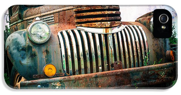 Decay iPhone 5 Cases - Rusty Old Chevy Pickup iPhone 5 Case by Edward Fielding