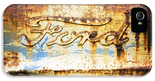 Edward iPhone 5 Cases - Rusty Old Ford Closeup iPhone 5 Case by Edward Fielding
