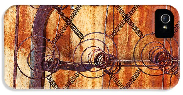 Springs Coil iPhone 5 Cases - Rusty Springs iPhone 5 Case by Art Block Collections