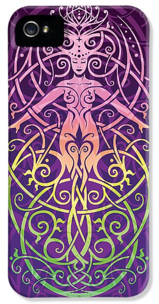 Gaia iPhone 5 Cases - Sacred Ecology v.2 iPhone 5 Case by Cristina McAllister