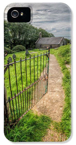 Cemetary iPhone 5 Cases - Sacred Path iPhone 5 Case by Adrian Evans