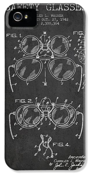 Safety iPhone 5 Cases - Safety Glasses Patent from 1942 - Dark iPhone 5 Case by Aged Pixel