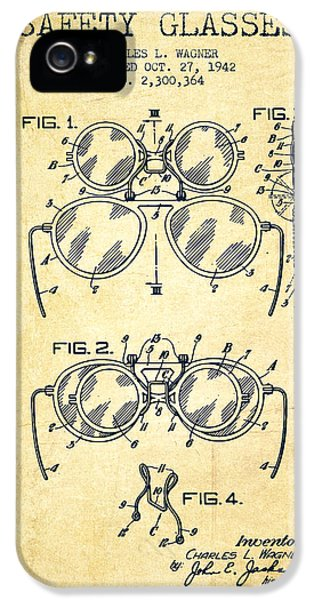 Safety iPhone 5 Cases - Safety Glasses Patent from 1942 - Vintage iPhone 5 Case by Aged Pixel
