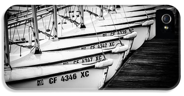 Newport Beach iPhone 5 Cases - Sailboats in Newport Beach California Picture iPhone 5 Case by Paul Velgos