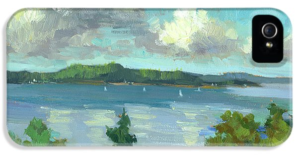 Indian Ocean iPhone 5 Cases - Sailing on Puget Sound iPhone 5 Case by Diane McClary