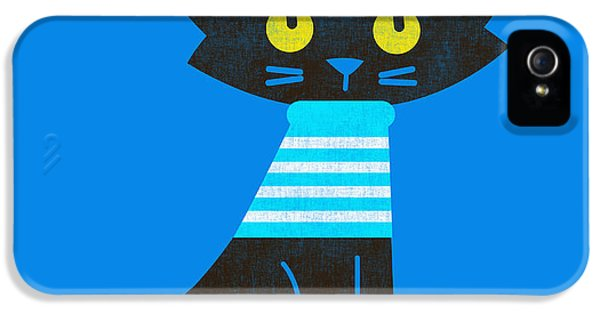 Black Cat iPhone 5 Cases - Sailor Cat iPhone 5 Case by Budi Satria Kwan