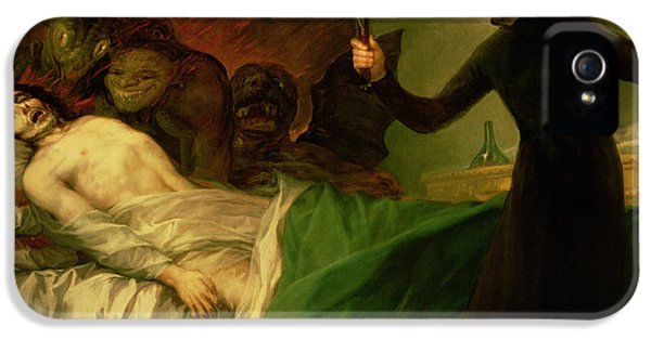 Ill iPhone 5 Cases - Saint Francis Borgia Helping a Dying Impenitent iPhone 5 Case by Goya