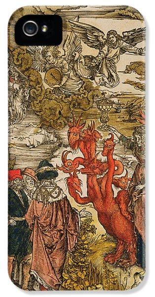 Revelations iPhone 5 Cases - Saint John In The Desert iPhone 5 Case by Albrecht Durer or Duerer