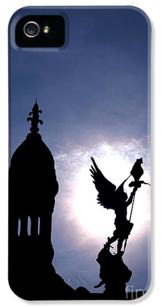 Archangel iPhone 5 Cases - Saint Michael The Archangel  iPhone 5 Case by Olivier Le Queinec