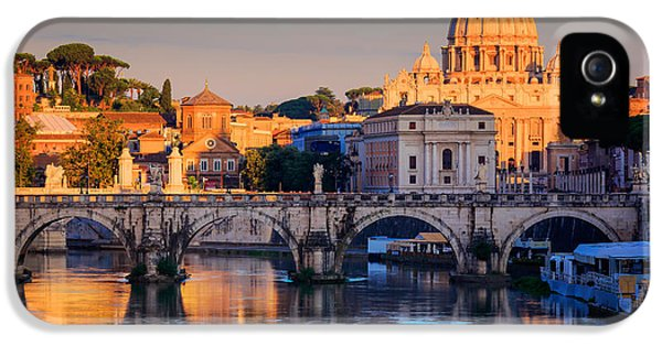 Tourism iPhone 5 Cases - Saint Peters Basilica iPhone 5 Case by Inge Johnsson