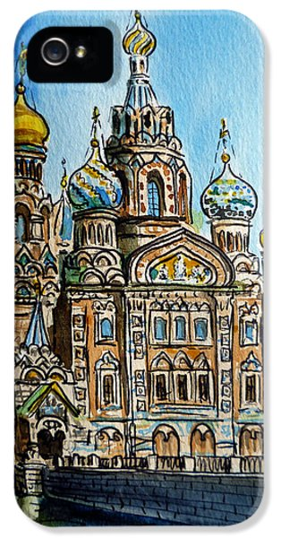 Sketch iPhone 5 Cases - Saint Petersburg Russia The Church of Our Savior on the Spilled Blood iPhone 5 Case by Irina Sztukowski