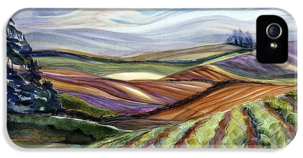 Farmland iPhone 5 Cases - Salinas Tapestry iPhone 5 Case by Jen Norton