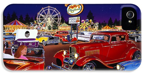1929 Roadster iPhone 5 Cases - Sammys Playland iPhone 5 Case by Bruce Kaiser