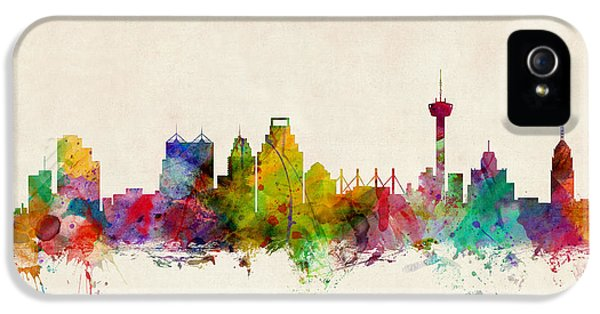 Texas iPhone 5 Cases - San Antonio Texas Skyline iPhone 5 Case by Michael Tompsett