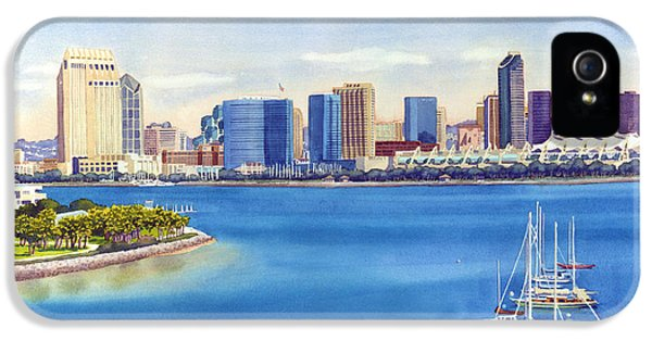 San Diego Skyline With Meridien IPhone 5 / 5s Case by Mary Helmreich