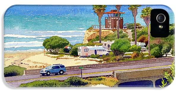 Camping iPhone 5 Cases - San Elijo Campground Cardiff iPhone 5 Case by Mary Helmreich