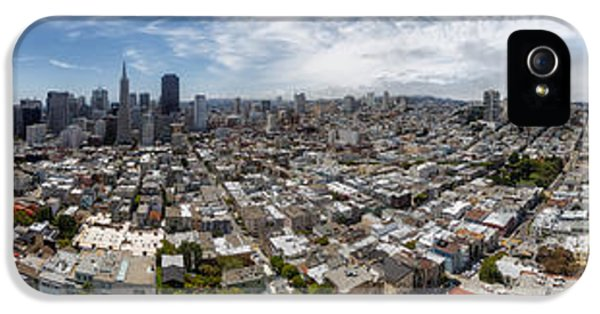 Stitch iPhone 5 Cases - San Francisco Daytime Panoramic iPhone 5 Case by Adam Romanowicz
