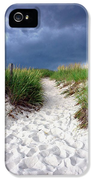 Sand iPhone 5 Cases - Sand Dune under Storm iPhone 5 Case by Olivier Le Queinec